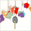 Flower decoration key & bag charm
