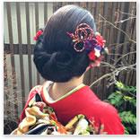 帯リメイク髪飾り 兵庫県 F様